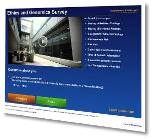 The online survey can be found at www.genomethics.org