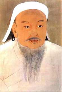 Portrait of Genghis Khan produced by a Chinese artist at the Imperial Court. Painting housed at the National Palace Museum, Taiwan.