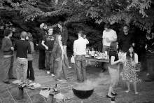 BBQ with students from the European Bioinformatics Institute.