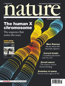 Chromosome X publication front cover.