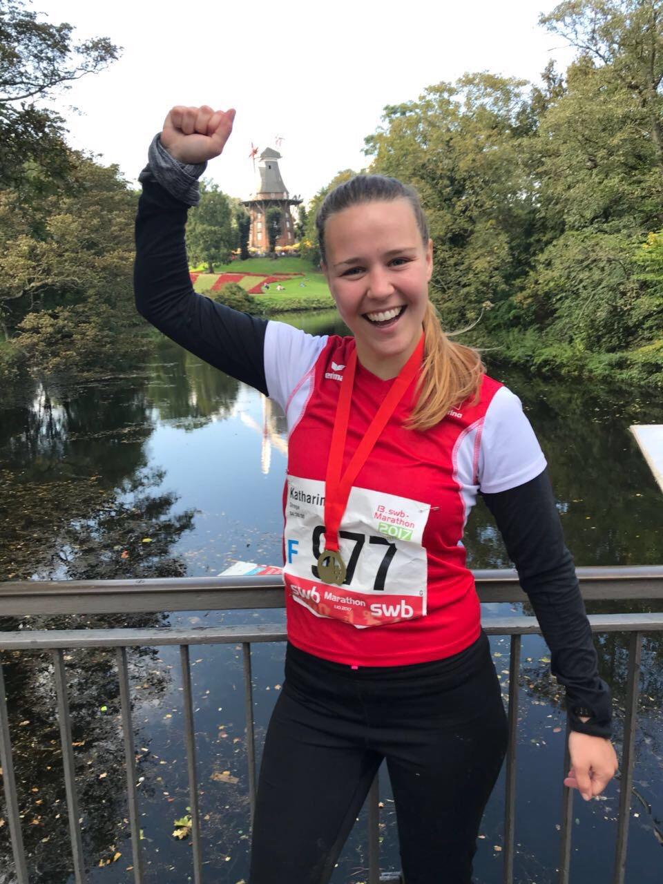 Katharina runs her first Marathon