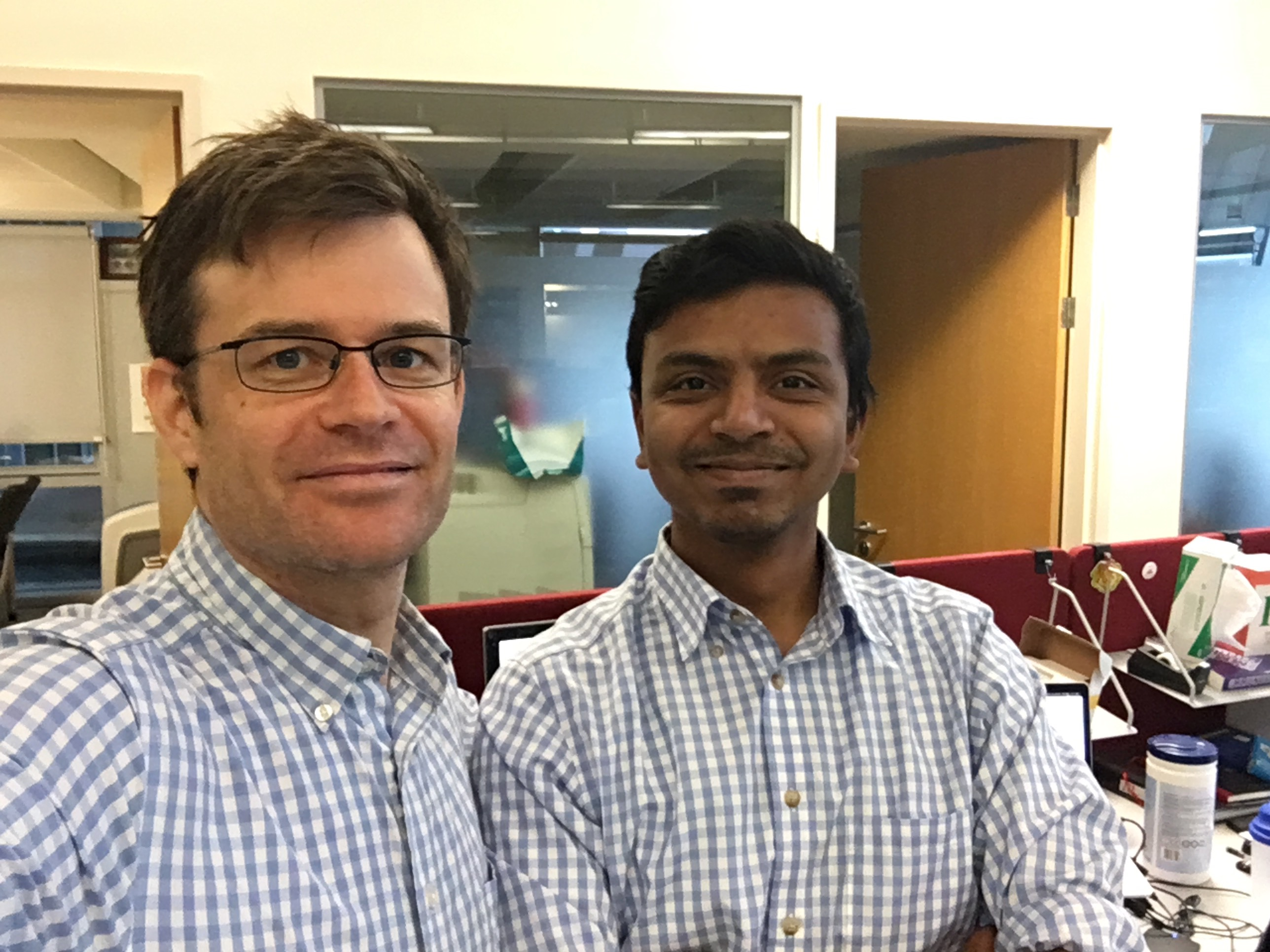 Aravind and Dave need to coordinate.