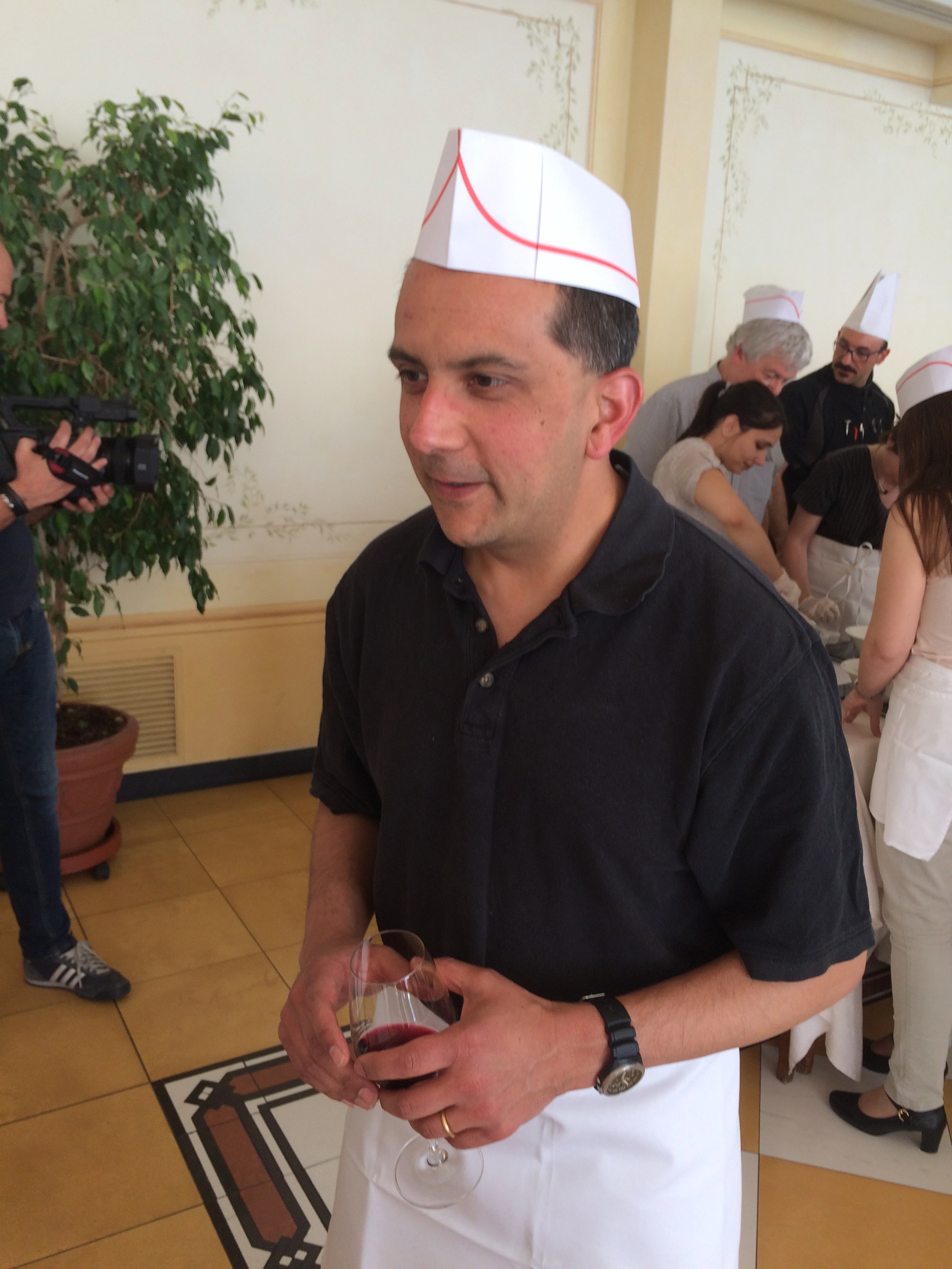 Vivek cooks Italian.