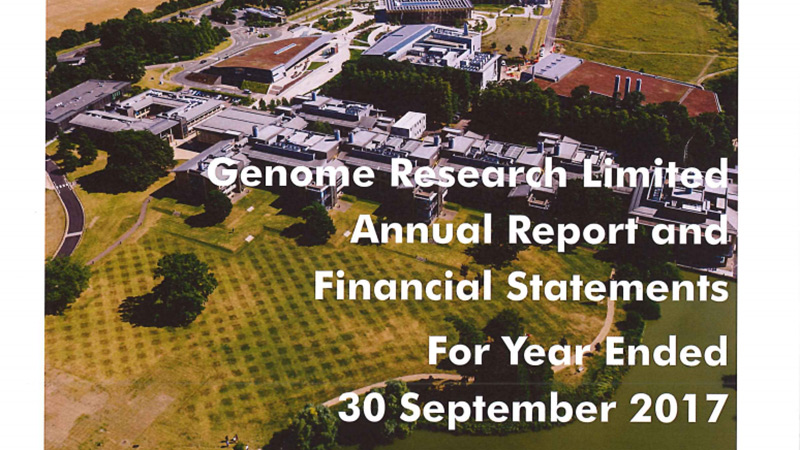 Genome Research Limited Annual Report and Financial Statements 2017