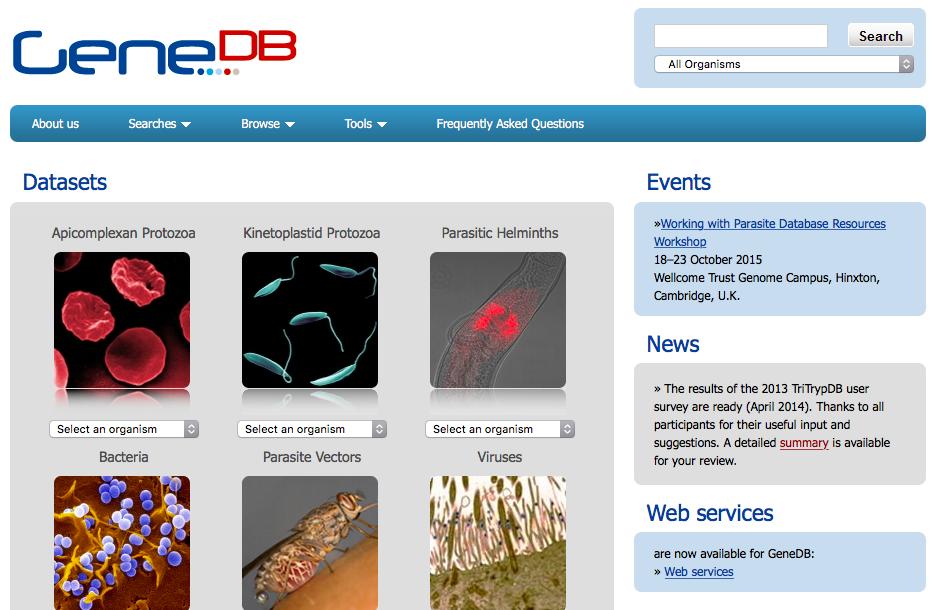 GeneDB Home Page