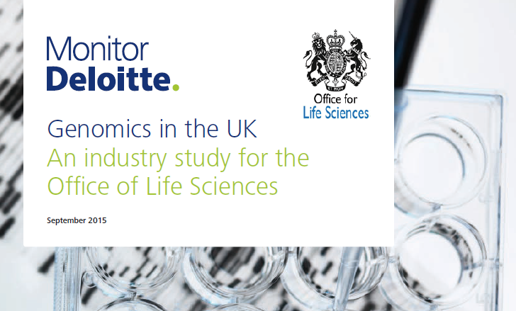 This report analyses trends in human genomics and the UK market position based, discussions with industry and public sector stakeholders literature review and our work in the sector. It focuses on the United Kingdom but in the context of the global market and draws on examples from other countries.